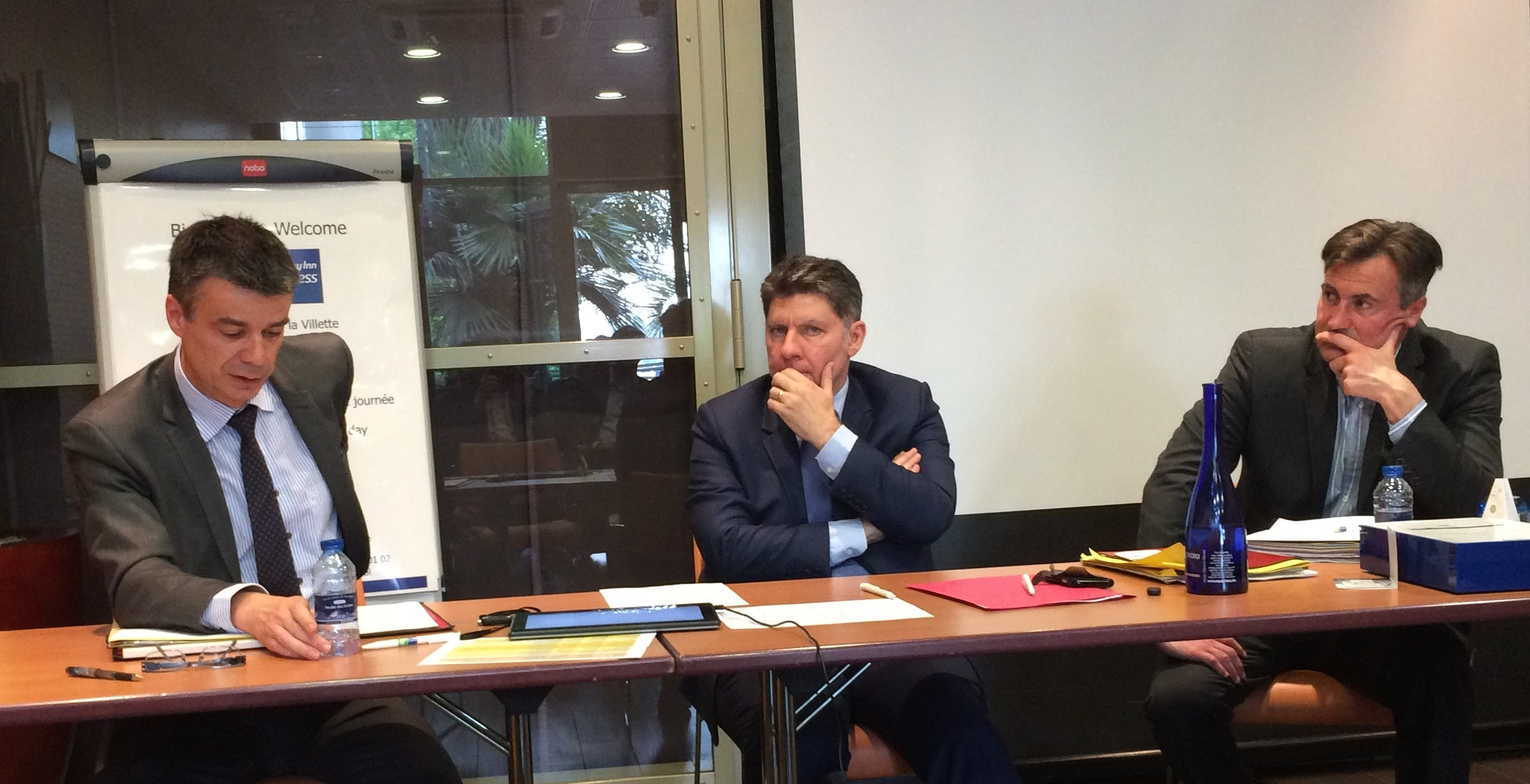 De gauche à droite : Yannick BORDE, Philippe PETIOT et Sylvain MANDRILLON