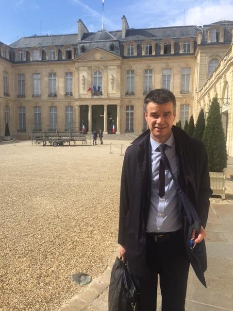 Yannick Borde et Philippe Petiot ont été reçu à l'Élysée par Nicolas MACHTOU PROCIVIS UES-AP logement habitat