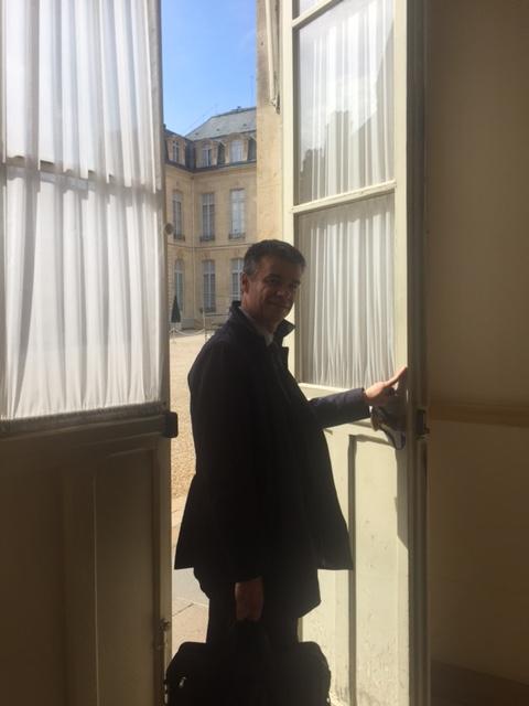 Yannick Borde et Philippe Petiot ont été reçu à l'Élysée par Nicolas MACHTOU PROCIVIS UES-AP logement habitat 3